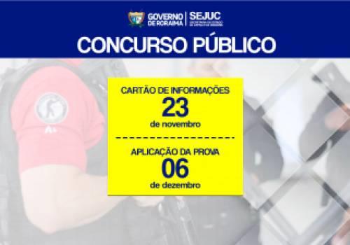 Data da Prova de Concurso Público - Policia Penal